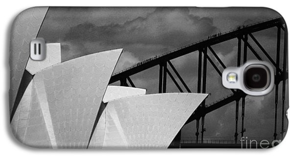 House Galaxy S4 Cases - Sydney Opera House with Harbour Bridge Galaxy S4 Case by Sheila Smart