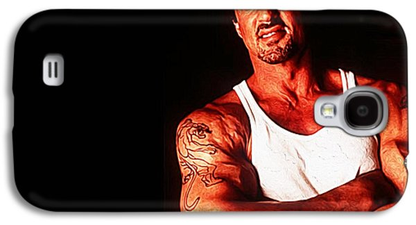 Stallone Digital Galaxy S4 Cases - Sylvester Stallone Galaxy S4 Case by Queso Espinosa
