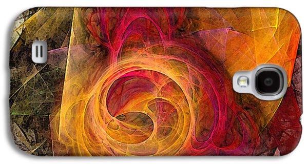 Symbiosis Abstract Art Galaxy S4 Case by Karin Kuhlmann