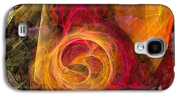 Contemplative Digital Galaxy S4 Cases - Symbiosis Abstract Art Galaxy S4 Case by Karin Kuhlmann