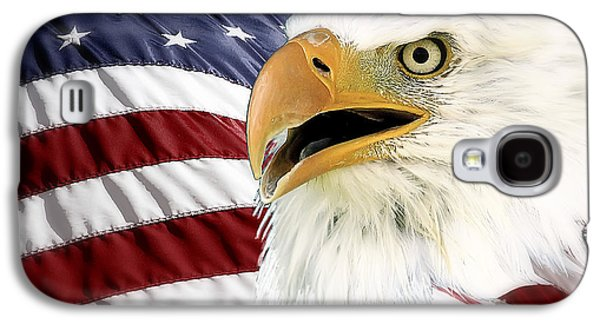 4th July Galaxy S4 Cases - Symbol of America Galaxy S4 Case by Teresa Zieba