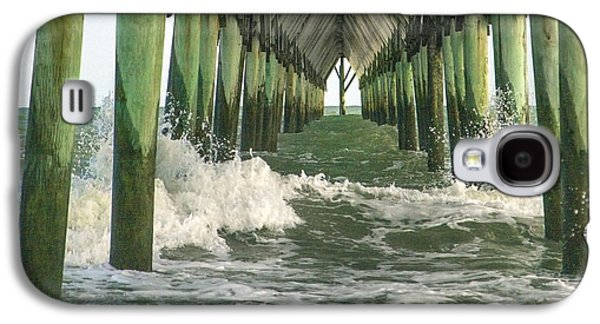 Topsail Galaxy S4 Cases - Symbolic Surf City Pier Galaxy S4 Case by Betsy C Knapp