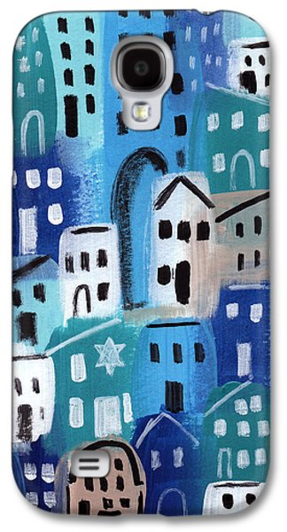 Buildings Mixed Media Galaxy S4 Cases - Synagogue- City Stories Galaxy S4 Case by Linda Woods