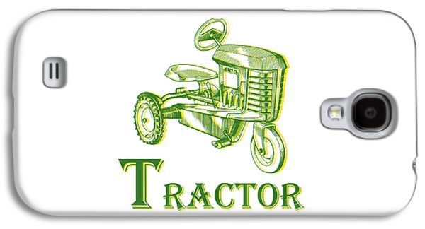 Machinery Galaxy S4 Cases - T is for Tractor Galaxy S4 Case by Edward Fielding
