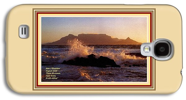 Abstract Digital Pastels Galaxy S4 Cases - Table Mountain Cape Town South Africa H A With Decorative Ornate Printed Frame Galaxy S4 Case by Gert J Rheeders