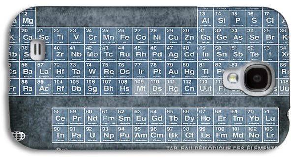 Tableau Periodiques Periodic Table Of The Elements Vintage Chart Blue Galaxy S4 Case by Tony Rubino