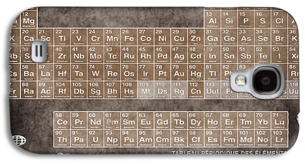 Tableau Periodiques Periodic Table Of The Elements Vintage Chart Sepia Galaxy S4 Case by Tony Rubino