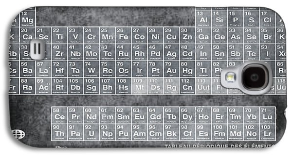 Tableau Periodiques Periodic Table Of The Elements Vintage Chart Silver Galaxy S4 Case by Tony Rubino