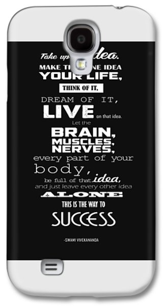 Business Tapestries - Textiles Galaxy S4 Cases - Take up one idea. Poster motivational. Galaxy S4 Case by BestCit Art