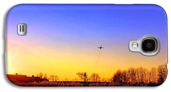 Airliner Galaxy S4 Cases - Taking Off Galaxy S4 Case by Olivier Le Queinec