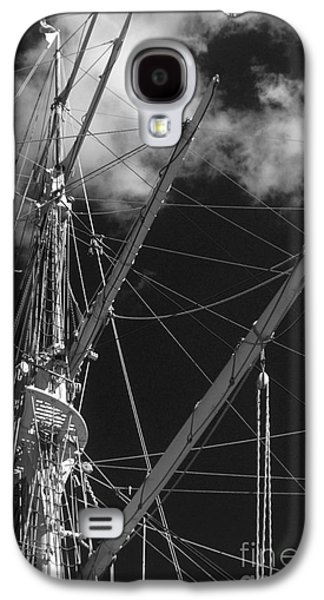 Abstracted Galaxy S4 Cases - Tall Ship Rigging Black and White Galaxy S4 Case by Tom Gari Gallery-Three-Photography