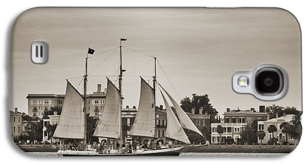 Historic Schooner Galaxy S4 Cases - Tall Ship Schooner Pride off the Historic Charleston Battery Galaxy S4 Case by Dustin K Ryan