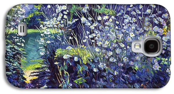 Gardenscapes Galaxy S4 Cases - Tangled White Flowers  Galaxy S4 Case by David Lloyd Glover