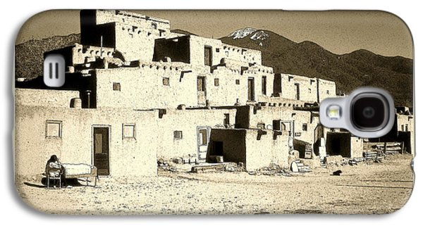Taos Pueblo New Mexico - Ink Drawing Galaxy S4 Case by Art America Online Gallery