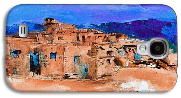 Taos Pueblo Village Galaxy S4 Case by Elise Palmigiani