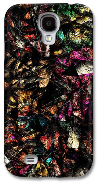Colorful Abstract Digital Galaxy S4 Cases - Tapestry  Galaxy S4 Case by Gary Bodnar
