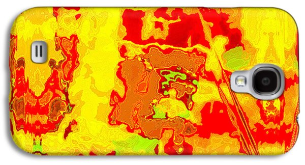 Contemporary Abstract Tapestries - Textiles Galaxy S4 Cases - Tarim Galaxy S4 Case by Laura Boyd