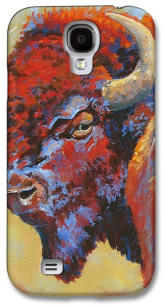 Bison Pastels Galaxy S4 Cases - Tatanka Galaxy S4 Case by Christine  Camilleri