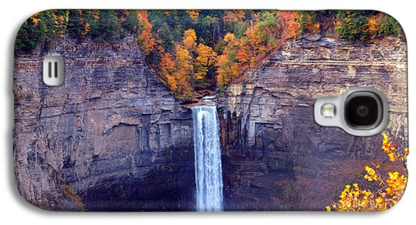 Park Scene Digital Galaxy S4 Cases - Taughannock waterfalls in autumn Galaxy S4 Case by Paul Ge