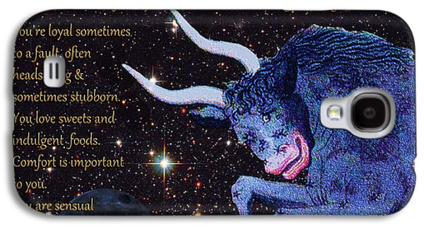 Taurus Birthday Zodiac Astrology Galaxy S4 Case by Michele  Avanti