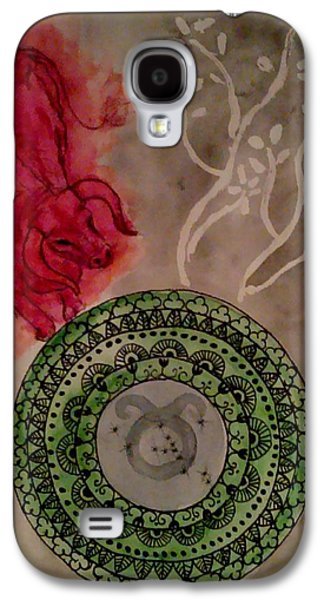 Constellations Paintings Galaxy S4 Cases - Taurus Galaxy S4 Case by Jennie Hallbrown