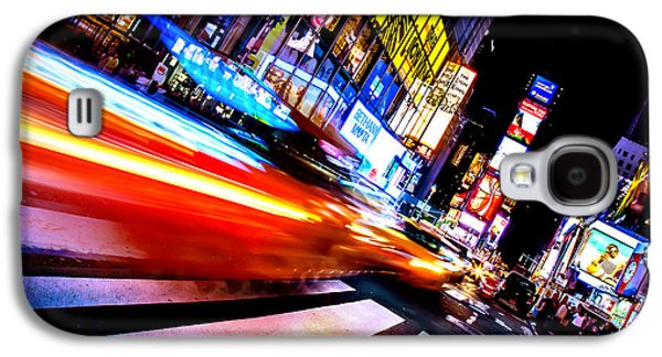 Taxis In Times Square Galaxy S4 Case by Az Jackson