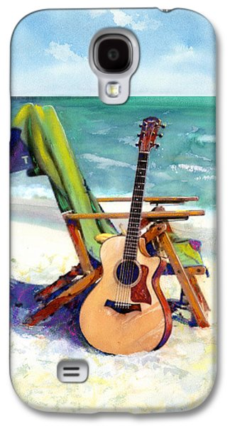 Print Mixed Media Galaxy S4 Cases - Taylor at the Beach Galaxy S4 Case by Andrew King