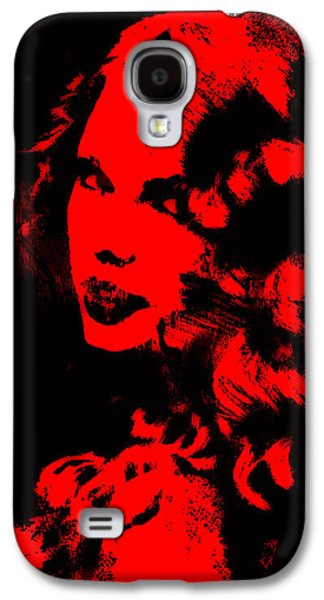 Taylor Swift Paintings Galaxy S4 Cases - Taylor Swift 4e Galaxy S4 Case by Brian Reaves