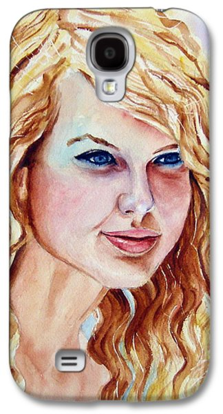 Taylor Swift Paintings Galaxy S4 Cases - Taylor Swift Galaxy S4 Case by Brian Degnon