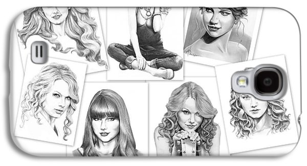 Taylor Swift Collage Galaxy S4 Case by Murphy Elliott