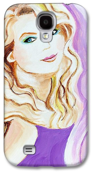 Taylor Swift Paintings Galaxy S4 Cases - Taylor Swift Galaxy S4 Case by Art by Danielle