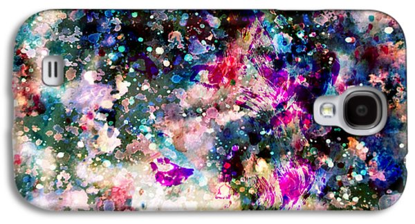Taylor Swift Paintings Galaxy S4 Cases - Taylor Swift Paint Splatter Galaxy S4 Case by Brian Reaves