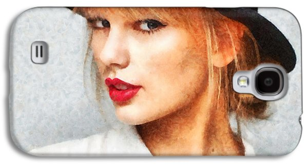 Taylor Swift Galaxy S4 Cases - Taylor Swift Painting On Canvas Galaxy S4 Case by Sir Josef  Putsche