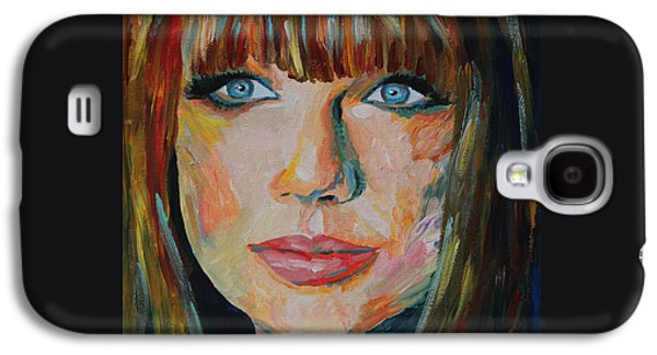 Taylor Swift Paintings Galaxy S4 Cases - Taylor Swift Portrait Galaxy S4 Case by Robert Yaeger