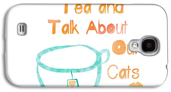Tea And Cats Square Galaxy S4 Case by Linda Woods