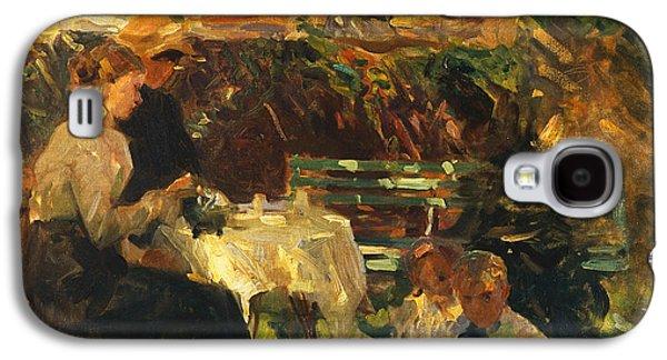 Tea In The Garden, Galaxy S4 Case by Walter Frederick Osborne