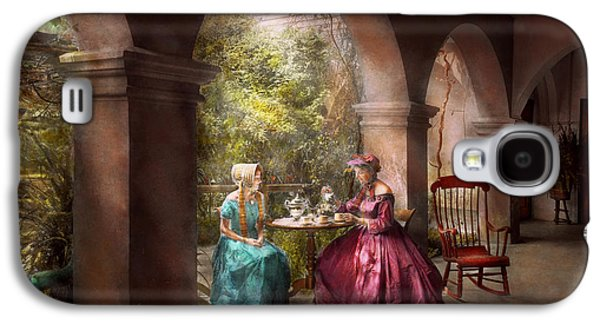 Girl Galaxy S4 Cases - Tea Party - Sharing tea with Grandma 1936 Galaxy S4 Case by Mike Savad