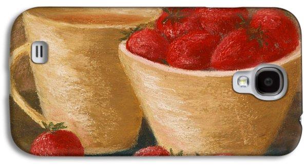 Tea With Strawberries Galaxy S4 Case by Cheryl Albert