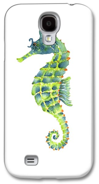 Teal Green Seahorse - Square Galaxy S4 Case by Amy Kirkpatrick