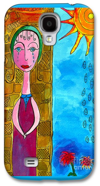 Kim Drawings Galaxy S4 Cases - Tears Of The Sun Galaxy S4 Case by Kim Magee