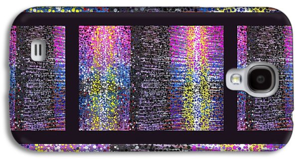 Contemporary Abstract Tapestries - Textiles Galaxy S4 Cases - Technicolor Dreams 2 Galaxy S4 Case by Suzi Freeman and Charles Schuster