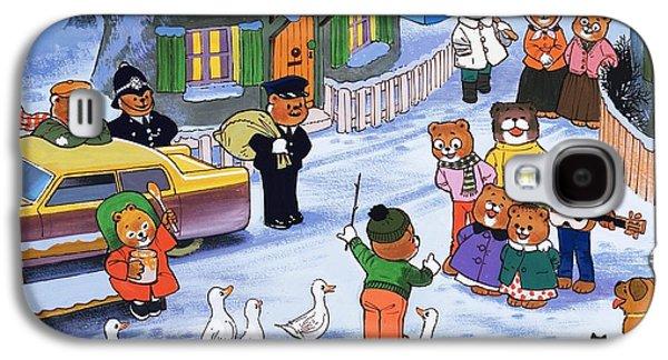 Police Christmas Card Galaxy S4 Cases - Teddies in winter  Galaxy S4 Case by English School