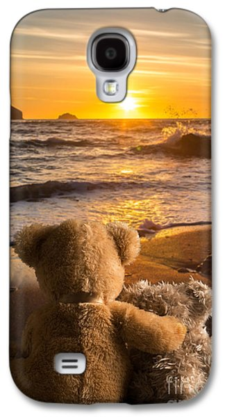 Sun Galaxy S4 Cases - Teddies Watching The Sunset Galaxy S4 Case by Amanda And Christopher Elwell