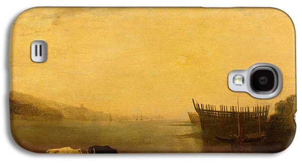Beach Landscape Galaxy S4 Cases - Teignmouth Harbour Galaxy S4 Case by Joseph Mallord William Turner