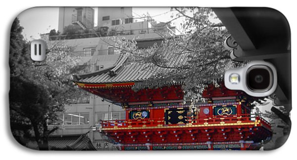 Crowd Galaxy S4 Cases - Temple in Tokyo Galaxy S4 Case by Naxart Studio