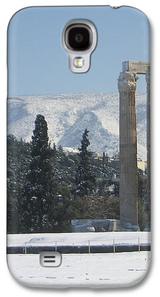 Temple Of Olympian Zeus In The Snow  Galaxy S4 Case by Clay Cofer