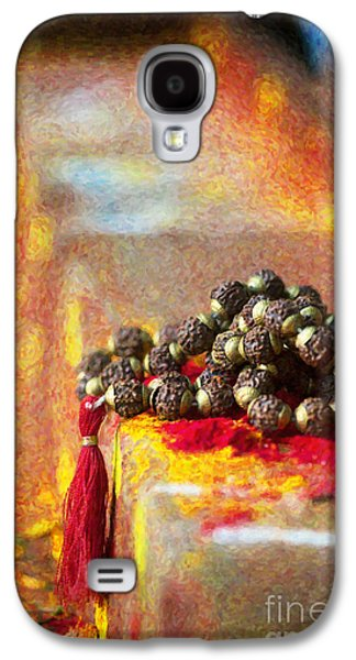 Inner Peace Galaxy S4 Cases - Temple Rudraksha Beads Galaxy S4 Case by Tim Gainey