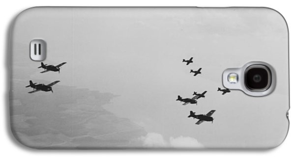 Airplane Photographs Galaxy S4 Cases - Ten Wildcats In Flight Over The Coast  Galaxy S4 Case by American School