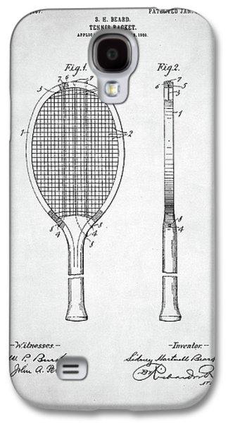 Tennis Racket Patent 1907 Galaxy S4 Case by Taylan Soyturk