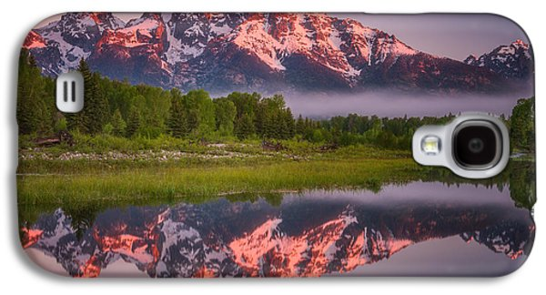 Landscape Acrylic Prints Galaxy S4 Cases - Teton Awakening  Galaxy S4 Case by Darren  White